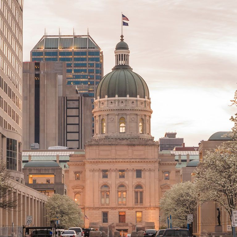 The Indiana Statehouse dome