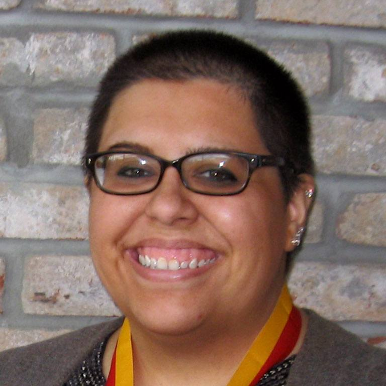 Jessica Davis, winner of the William M. Plater Civic Engagement Medallion